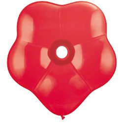 """16"""" Red GEO Blossom Latex Balloons, Qualatex 18756, Pack of 25 pieces"""
