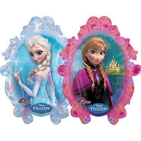 Frozen Ice Princess Anna Elsa Super Shape Jumbo Metallic Foil Balloon, 63x78 cm, 28162