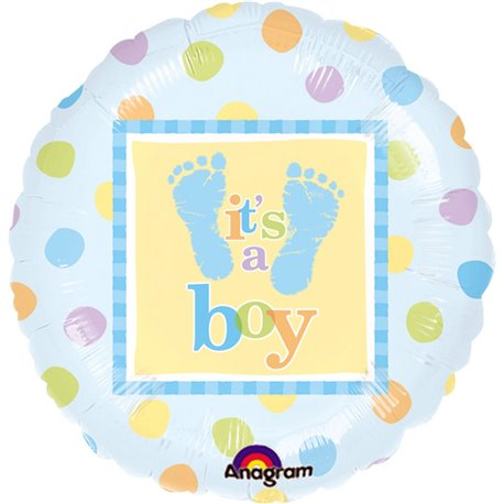 "Balon Folie 45 cm ""It's a boy"", Amscan 111056-01"
