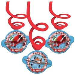 Disney Planes 6 Swirl Decorations 14 cm, Riethmuller, 996871, 6 pieces