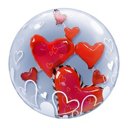 Balon Double Bubble Baby Boy, Qualatex, 60 cm, 29486