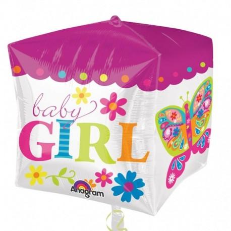 Balon folie Cubez Baby Girl 38 cm X 40 cm, 28382