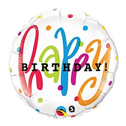 Folie 45cm Happy Birthday, Qualatex 25283
