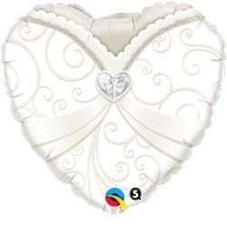 """Balon Folie 18"""" Wedding Gown, Qualatex 15791"""