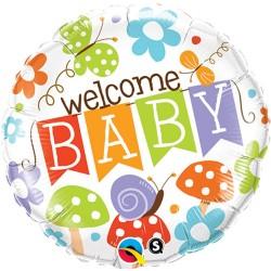 "Balon Folie 18"" Welcome Baby, Qualatex 25210"