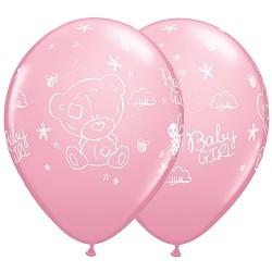 Baloane Latex 28 cm Roz Me to You Baby Girl, Qualatex 45369, Set 25 buc