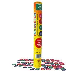 """Tun de confeti 40 cm multicolore """"La multi ani"""", Radar TUN.8240.LMA, 1 buc"""
