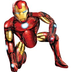 Balon folie figurina airwalker Iron Man - 93x116cm, Marvel Avengers Assemble, Amscan 110062