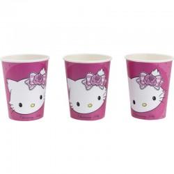 Pahare carton Charmmy Kitty pentru petrecere copii, 250ml, Amscan RM551727, Set 8 buc