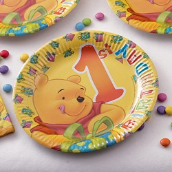 1st Birthday Party Paper Plates Radar 61240 Pack of 10 pieces  sc 1 st  Radar Party Center & Winnie the Pooh - Radar Party Center