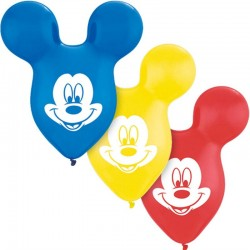 """Mickey Mouse Ears Latex Balloons- 15""""/38cm, Qualatex 73592, Pack of 25pieces"""