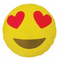 Balon folie 45 cm EMOJI Heart Eyes, Northstar Balloon 01270