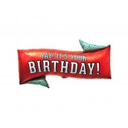 "Yay! It's Your Birthday! Foil Ballon, 31"" / 79 cm, Northstar Balloons, 00707"