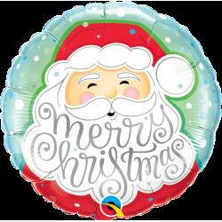 """Balon Folie 45 cm """"Merry Christmas"""", Qualatex 43516"""
