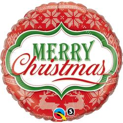 """Folie 45 cm """"Merry Christmas"""", Qualatex 18949"""