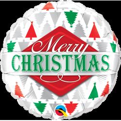 """Folie 45 cm """" Merry Christmas """", Qualatex 43496"""