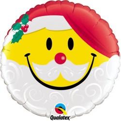 Balon Folie 45 cm Smile Mos Craciun 54814