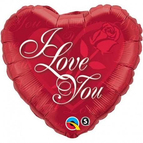 Balon Folie 45 cm I love you inima, 24489