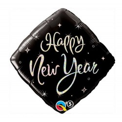 "Folie 45 cm "" Happy New Year "", Qualatex 27673"