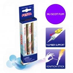 Artificii Tort fara Fum - 13 cm, Pyrogiochi PG30508.RD, Set 3 buc