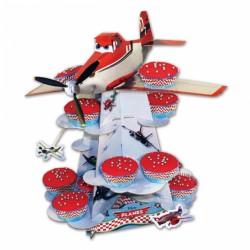 Planes 3 Tier Cake Stand 30cm h (base 30cm), Amscan 996876, 1 piece