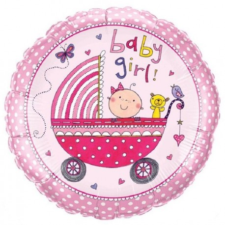 Balon Folie Baby Girl, Qualatex, 45 cm, 50294