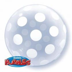 Balon Bubbles QUALATEX, Polka Dots 16872