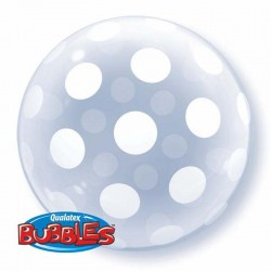 Balon Bubbles QUALATEX, Polka Dots 16872