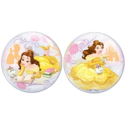 "Balon Bubble 22""/56cm Disney Belle, Qualatex 46727"