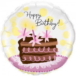 Balon Folie 45 cm Happy Birthday Cake Slice, Qualatex 29648
