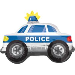 Balon Folie Figurina Police Car - 60 cm, Amscan 35334