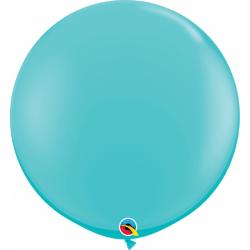 Baloane latex Jumbo 3 ft Caribbean Blue, Qualatex 18615, 1 buc