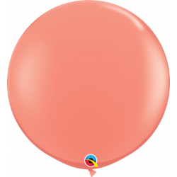 Balon latex Jumbo 3ft Coral, Qualatex 15883, set 2 buc
