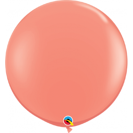 Balon latex Jumbo 3ft Coral, Qualatex 15883, set 2 buc