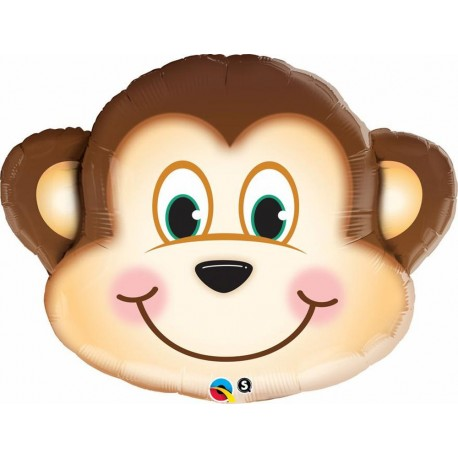Balon Folie Mini Figurina Cap Maimuta, Qualatex, 23 cm, 41793