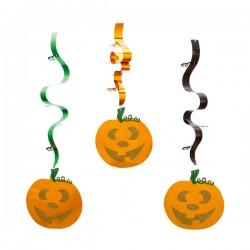 Serpentine folie cu dovleci Halloween - 90 cm, Radar 52798, set 3 bucati