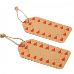 Etichete carton pentru cadouri Craciun - 10 x 5 cm, Radar 41308, set 6 bucati