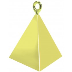 Greutate pentru baloane forma piramida - auriu, 110 g, Qualatex 14407