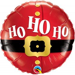 Balon folie 45 cm Ho Ho Santa - 45 cm, Qualatex 52120