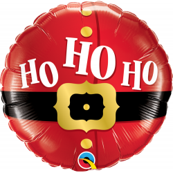 Balon folie 45 cm Ho Ho Santa - 45 cm, Qualatex 52120