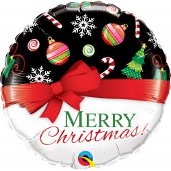 Balon Folie 45 cm Merry Christmas, Qualatex 52210