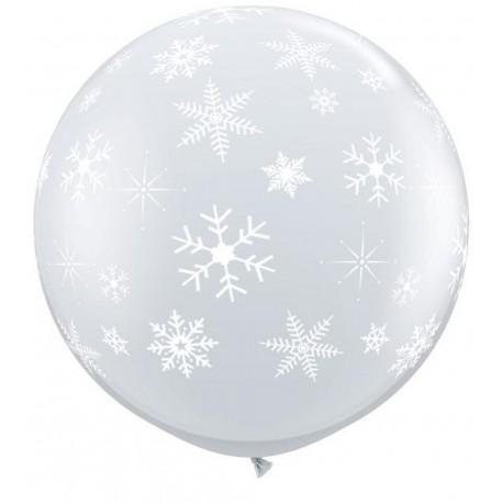 Balon Jumbo 3 FT Diamond Clear Fulgi de Nea, Qualatex 33533