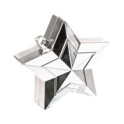 Greutate Stea Argintie pentru Baloane cu Heliu, 150 g, Qualatex 38787