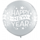 "Balon latex Jumbo 30"" inscriptionat Happy New Year, Qualatex 19173, 2 buc"