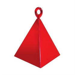 Greutate pentru baloane forma piramida - rosu, 110 g, Qualatex 14417