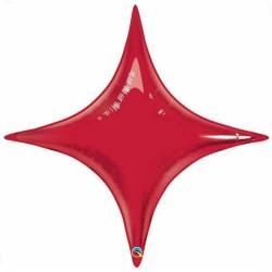 Balon Folie Rosu Metalizat Starpoint - 50 cm, Qualatex 31865