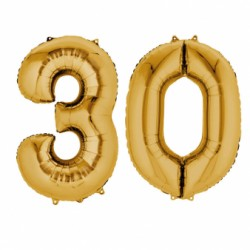 Pachet baloane folii mari numarul 30 auriu - 86cm, Amscan 33069