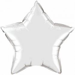 Balon folie argintiu metalizat cu forma de stea - 45 cm, Northstar Balloons 00373, 1 buc