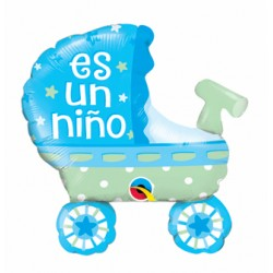 Balon folie mini figurina, Carucior Es un niño, Qualatex 49425