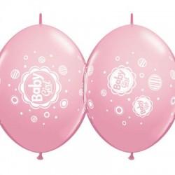 "Baloane Latex Quicklink (Cony) Roz Baby girl, 12"", Qualatex 42702, 10 buc"